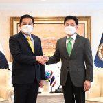 """ที่ปรึกษาฮุนเซนเข้าพบ """"จุรินทร์"""" ขอให้ไทยเร่งเปิดด่านหนองเอี่ยน ส่วนไทย หวังประชุม JTC  จะส่งเสริมการค้าระหว่างไทยกัมพูชาในต้นปีหน้า"""